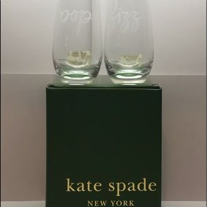 Kate Spade-New York Stemless Champagne Flutes